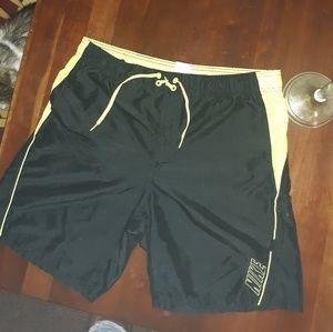 Lime green nike shorts.size medium